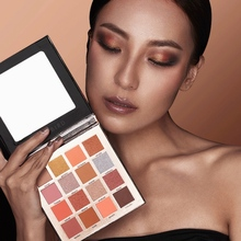 Tropical Imprint 16 Colors Eyeshadow Tray Waterproof Smudge-proof Easy To Color Shimmer Matte Eye Shadow