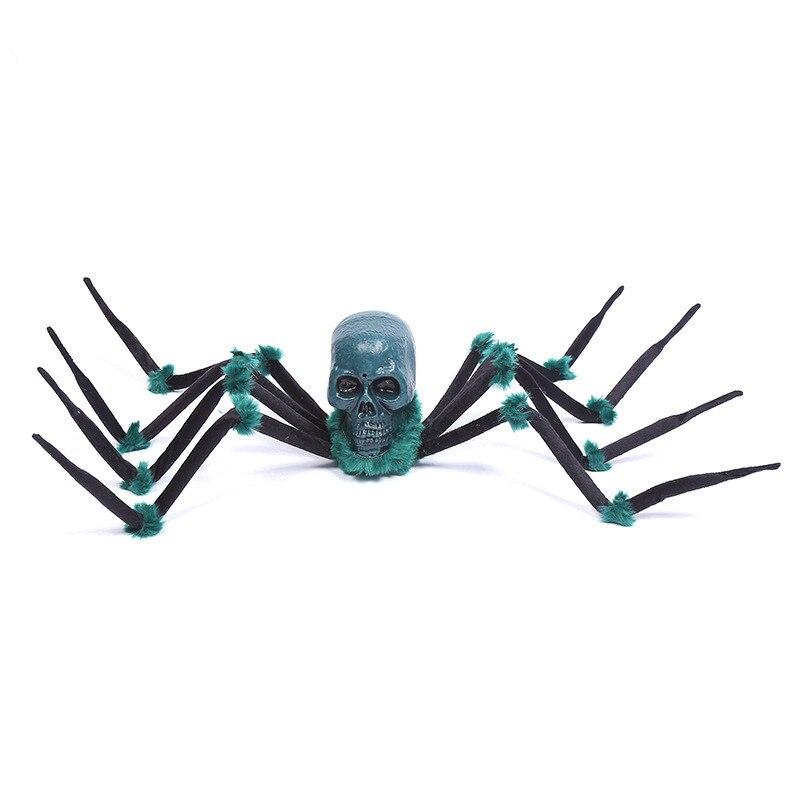Halloween électronique grande araignée en peluche fourrure fausse araignée astuce ou traiter Halloween fête décorations violet cadeau de noël