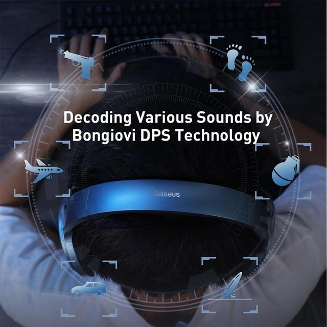 Baseus D05 3D Stereo Gaming Headphone USB/Type-C Colorful LED Light 3