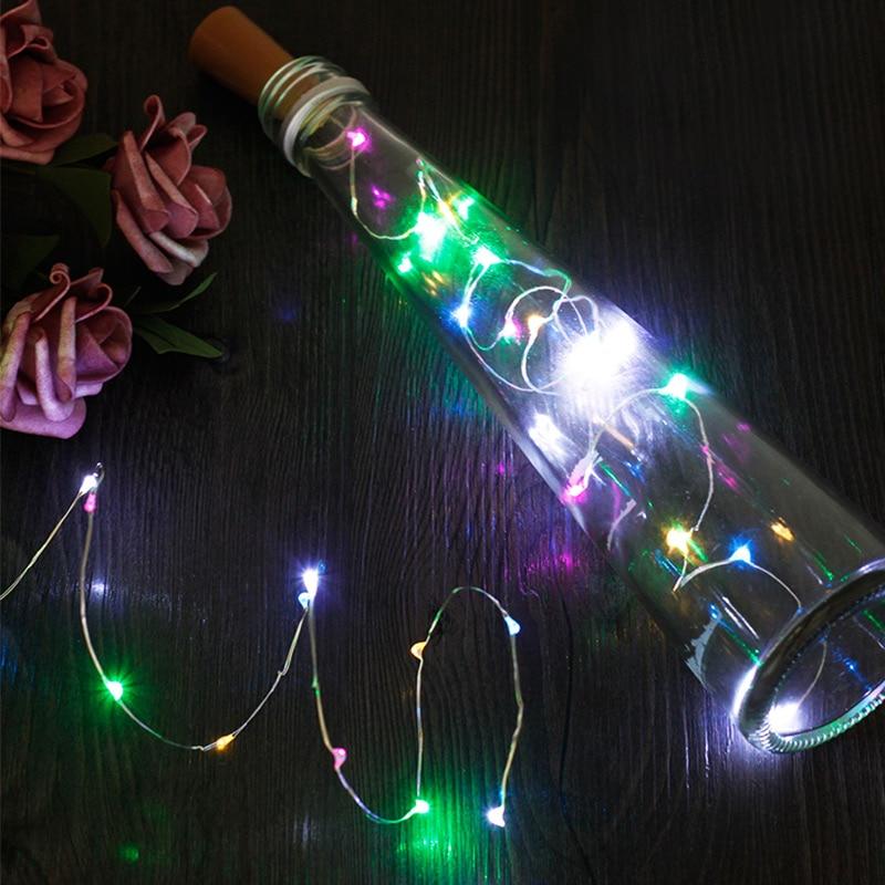 20LED Fairy String Light Bottle Stopper Festival Garden Outdoor Decorative Lights Fairy String Durable LED Cork Xmas Decor Yard