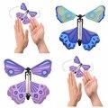 2Pcs Neuheit Magie Requisiten kinder Spielzeug Fliegende Schmetterlinge Spielzeug Kinder Pädagogisches Lernen Schmetterling Spiel Geschenke Zufalls Farbe