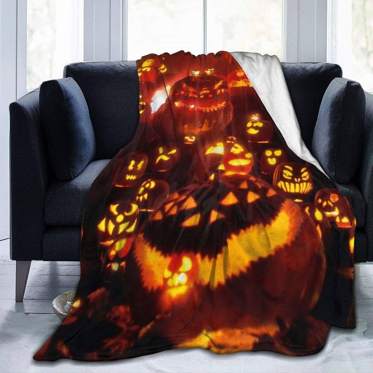 Halloween Pumpkin Blanket Flannel 3D Printed Soft Warm Throw Blanket Warm Home Bed Sofa Blanket 150X220cm