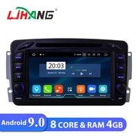 LJHANG 7 inch Android 9.0 Car DVD Player For Mercedes Benz CLK W209 W203 W463 W208 WIFI Car Multimedia Radio Audio Auto RAM 4GB