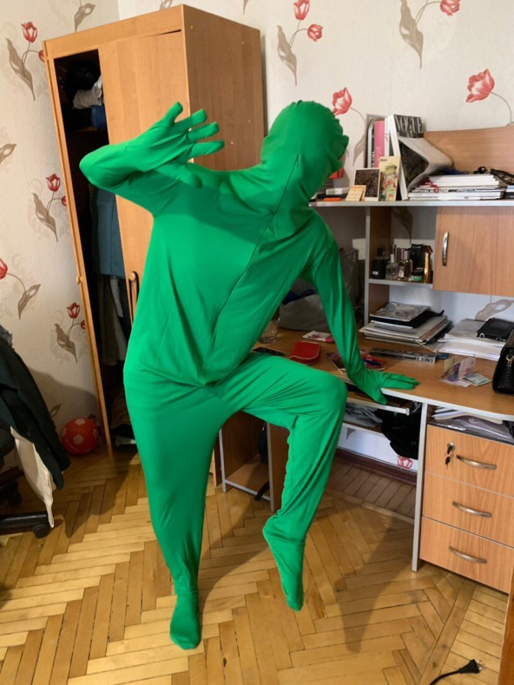 Skin Suit Invisible Effect Stretchy Body Green Screen Suit Photo Adult Tight Suit Comfortable Video