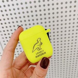 Image 3 - 애플 Airpods 2/1 케이스에 대 한 형광 색 문자 케이스 Airpod 헤드폰 액세서리 케이스에 대 한 블루투스 이어폰 소프트 커버