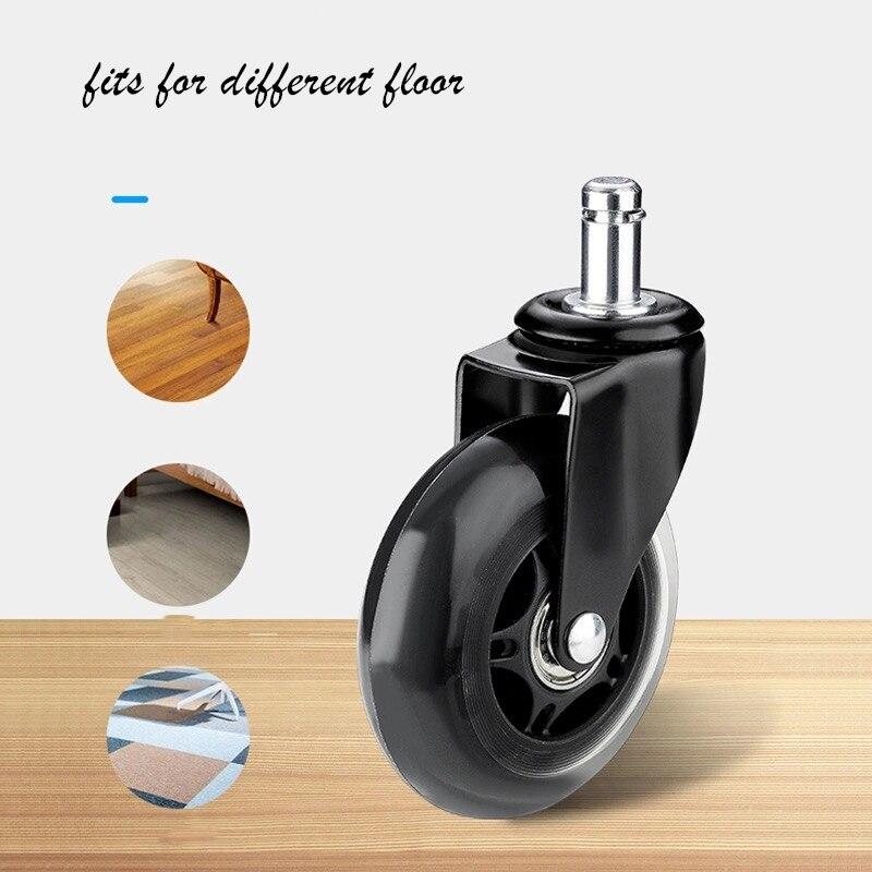 Rodas de cadeira de escritório 5 peças, estilo rollerblade roda castor substituição macio seguro rollers ferragens móveis 2.5 polegadas-2