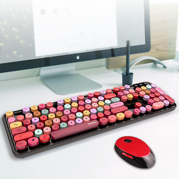 цена Mechanical Gaming Keyboard 104key Wireless Keyboard Anti-ghosting Mouse keyboard Mix Backlit LED USB Mouse For PC Gamer Laptop онлайн в 2017 году