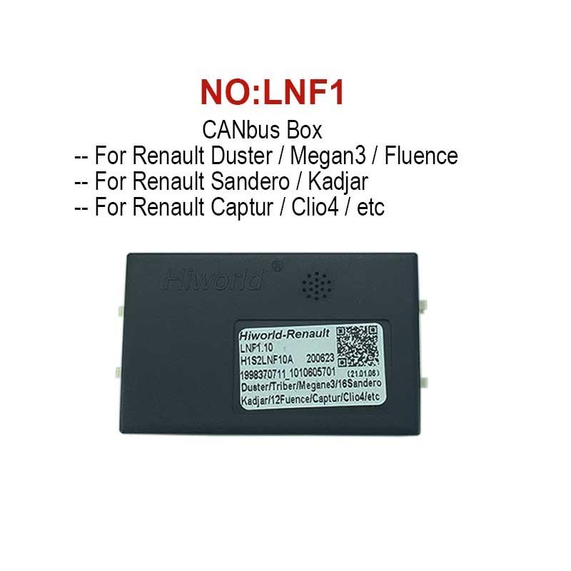 CANbus box decoder Adapter Für Renault Duster Megane3 Sandero Fluence Kadjar Clio4 Captur Auto stereo Android Radio