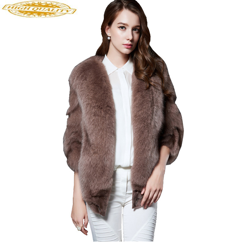 Women Warm Real Fox Fur Coat Female Short Winter Fur Coats Outerwear Natural Fur Jacket Women Casaco Feminino ML16P6103
