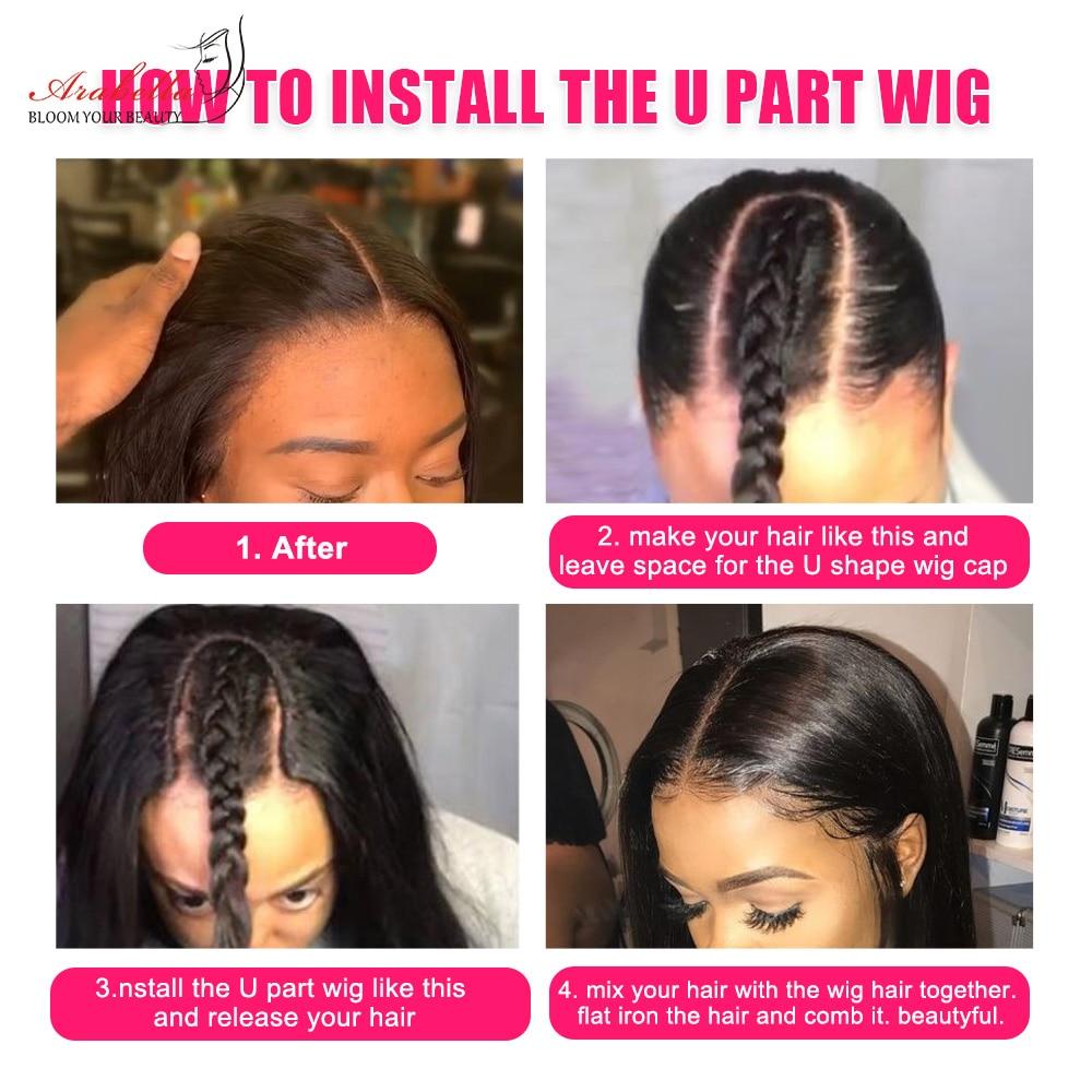 U Part Wig  Straight Hair Natural Color 100%  Wigs Arabella Hair  Wigs 5
