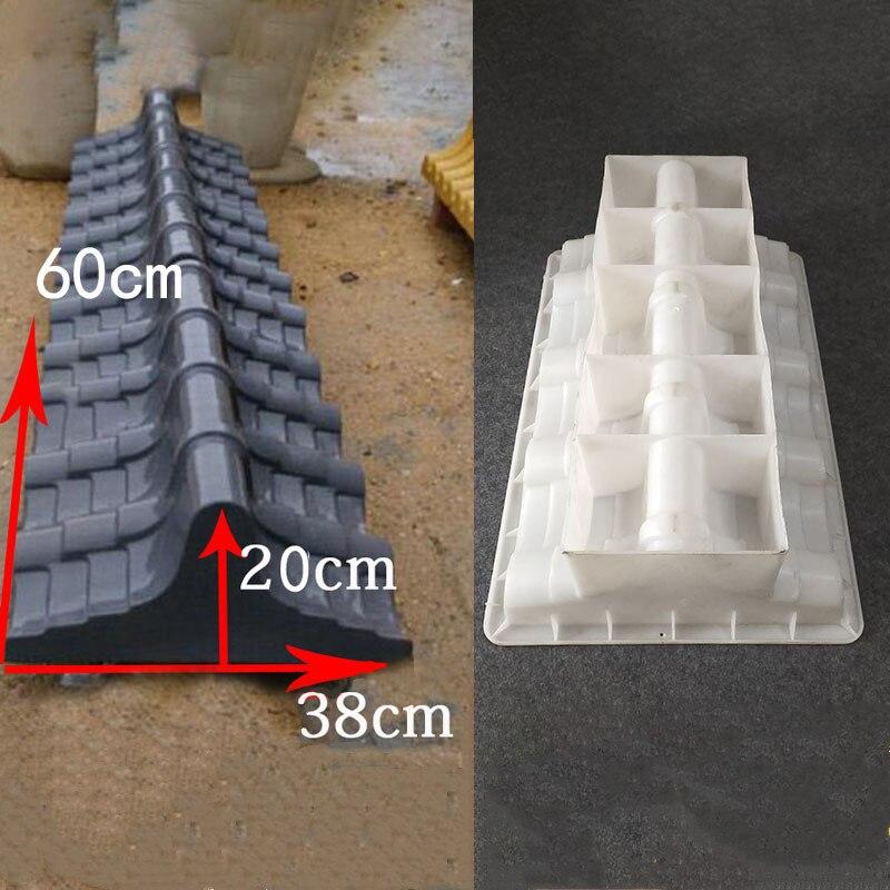 Cement Antique Brick Square Mould Garden Roof Making Brick Mold 3D Carving Anti-Slip Concrete Plastic Paving Molds 60x38x20cm