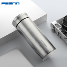 FEIJIAN Thermos Bottle Titanium Double Wall Thermal Cup Travel Mug Water Vacuum Cup With Tea Infuser Gift Box