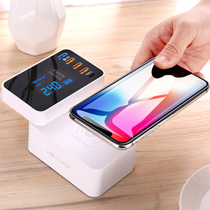 Image 5 - Quick Charge 3.0 Type C USB Charger For iPhone Adapter QI Wireless Charger Led Display Fast Charger For xiaomi huawei samsung