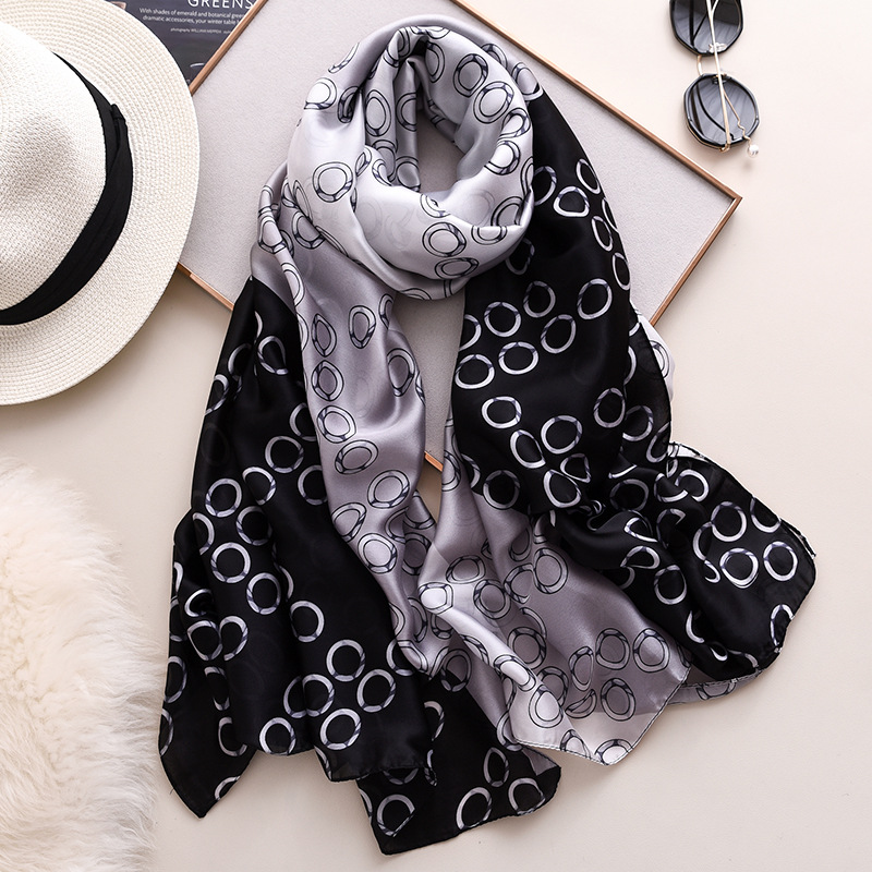Three Color Splicing Women Scarf Luxury Designer Shawls And Wraps 2020 Best Seller Silk Scarves Large Pashmina Travel Blanket