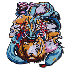 Cartoon Sew-on Animal Chinese Zodiac Patches Cloth Embroidery Cloth Subsidize Clothes Jeans Use Hole Clothing Accessories(China)