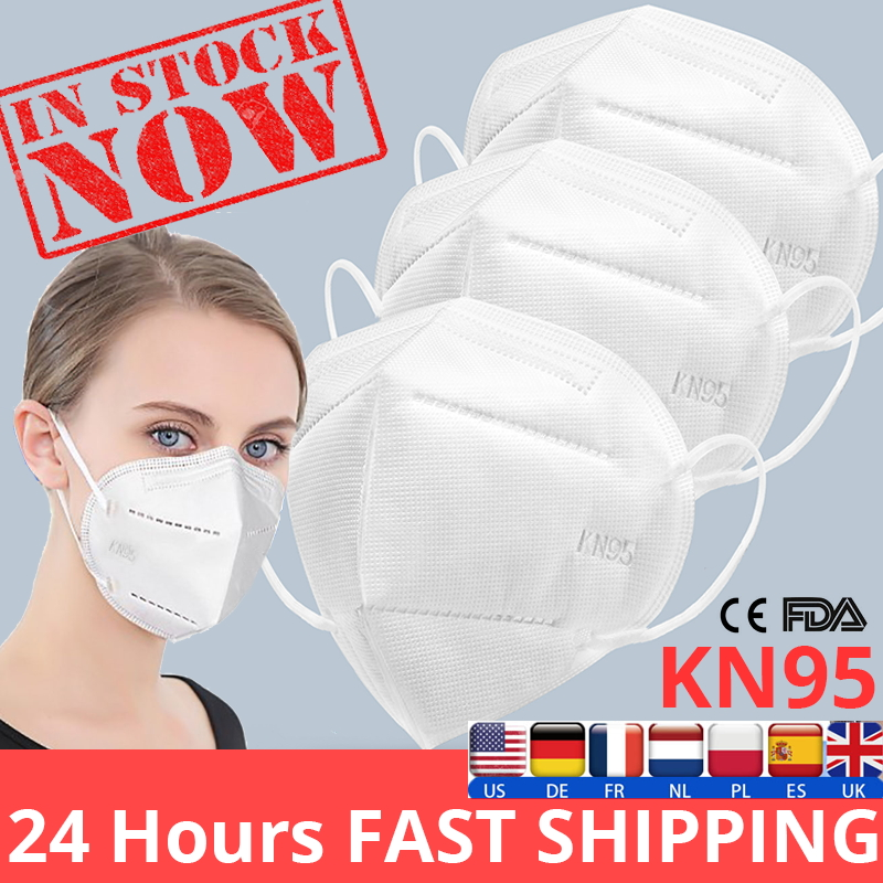 50Pcs KN95 Protective Masks KN95 Nonwoven Dust Mask PM 2.5 Safety Protective Dust-proof Breathing Mouth Facia Masks IN STOCK