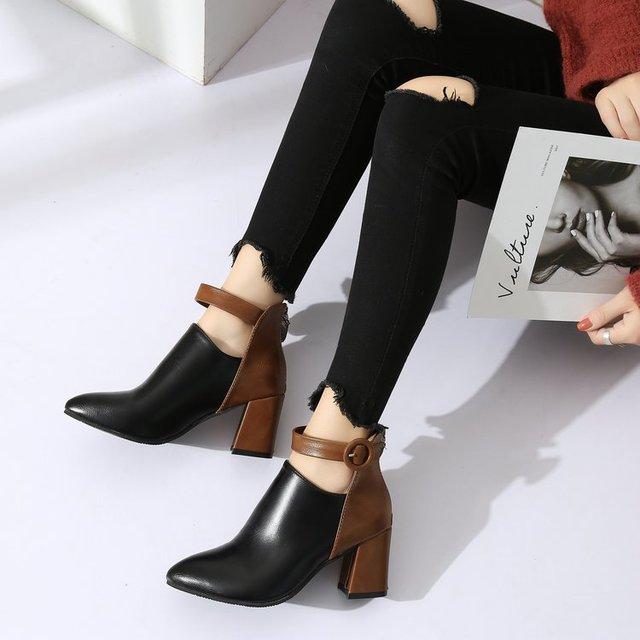 Фото женские туфли на танкетке mudibear черные массивном каблуке цена
