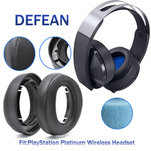 Defean Replacement cushion ear pads for SONY PlayStation PS4 Platinum Wireless Headset model:CECHYA 0090