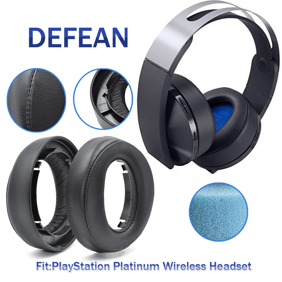 Defean Replacement Cushion Ear Pads For Sony Playstation Ps4 Platinum Wireless Headset Model Cechya 0090 Earphone Accessories Aliexpress