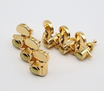 Guitar tuners 3L3R Vintage Guitar Semicircle Machine Heads Tuners Tuning Pegs For LP SG Electric Guitar Chrome & Black and Gold image