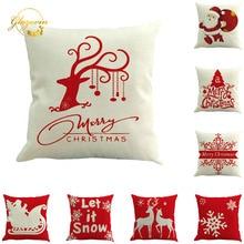 Рождественские украшения для дома Снежинка лось Санта Клаус наволочка веселое Рождественское украшение Рождество подарок на год