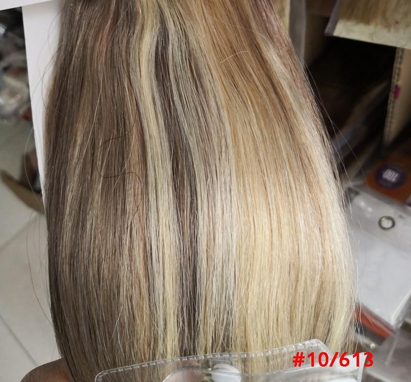 Chocola, бразильские волосы remy на всю голову, 10 шт. в наборе, 280 г, 16-28 дюймов, натуральные прямые человеческие волосы для наращивания на заколках - Цвет: P10/613