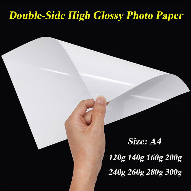 A4 Double Side High Glossy Photo Paper For Inkjet Printer 120g 140g 160g 200g 240g 260g 280g 300g