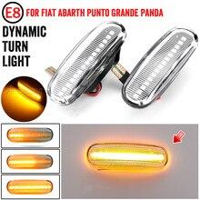 1 paar Dynamische Rauch LED seite marker licht blinker lampe für Fiat Panda Punto Evo Stilo Qubo Peugeot Citroen lancia Musa(350)