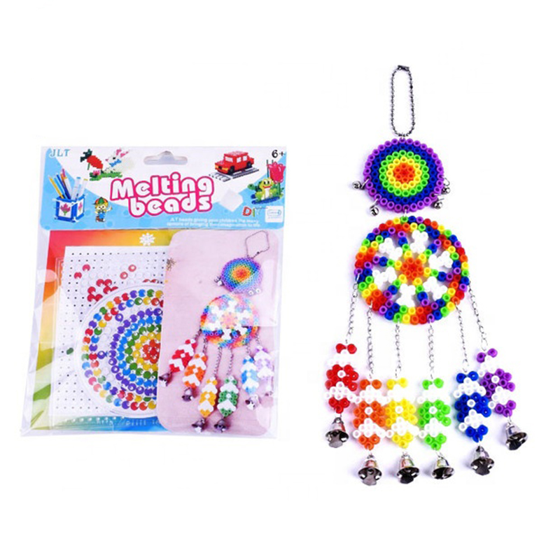 Craft Wind Chime Dream Catcher 5mm hama beads kit educational toys EVA fuse beads set for kids puzzle 8-11 Years(China)