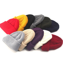 2019 Winter Hats For Woman Knitted Skullcap Adult Casual Hip Hop Hat Solid Unisex Beanie Cap