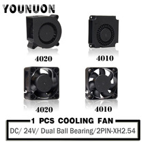 DC 24V 40mmx20mm 40mmx10mm 40mm Brushless Axial Dual Ball Bearing Blower Fan 3D Printer Turbo Blower DC Cooling Fan
