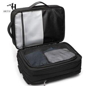 Image 3 - ARCTIC HUNTER Brand Male 15.6 inch Laptop Backpack Man USB Recharging Multi layer High capacity Travel Bag backpacks 2020 New