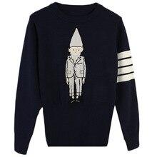 Shuchan Winter Warm Sweaters Vintage Womens Knitwear Pullovers Cute  Elegant Knit Sweater Cartoon black gray