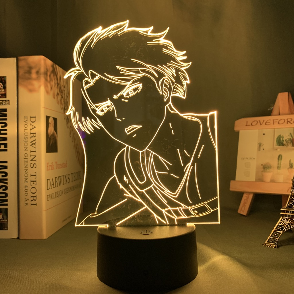 H53b8888f8e2e4e05a898acbb6c84e04fc Luminária Attack on Titan Shingeki no Kyojin Ataque em titan levi ackerman acrílico 3d lâmpada para casa decoração do quarto luz presente da criança levi ackerman led night light anime