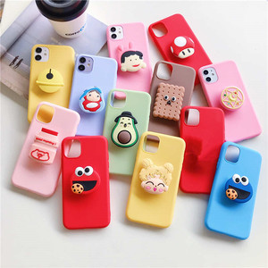 Cute 3D cartoon holder stand Case For xiaomi redmi note 6 7 8 pro 8T 8A 7A K20 5 Plus 4A 4X 5A 6A Cover For redmi note 8 Pro