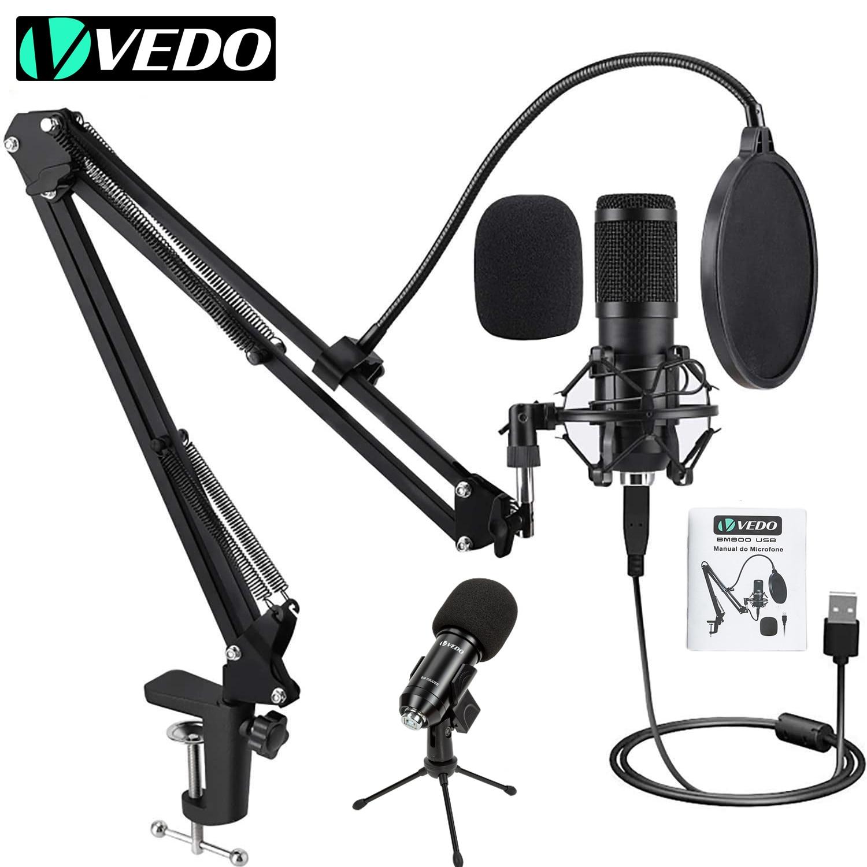 VEDO BM800 USB Комплект микрофон конденсатор Профессиональный для с поп-фильтром