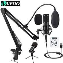 VEDO BM800 USB Kit Microfone Estúdio Condensador profissional para Com Pop Filter