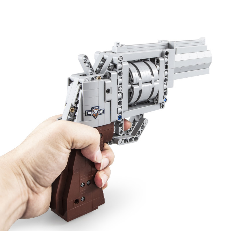 MK23 Pistol Fit Technic Series Gun Handgun Revolver Pistol Can Fire Bullet Set DIY Model Building Blocks Toys For Kids Boys Gift image