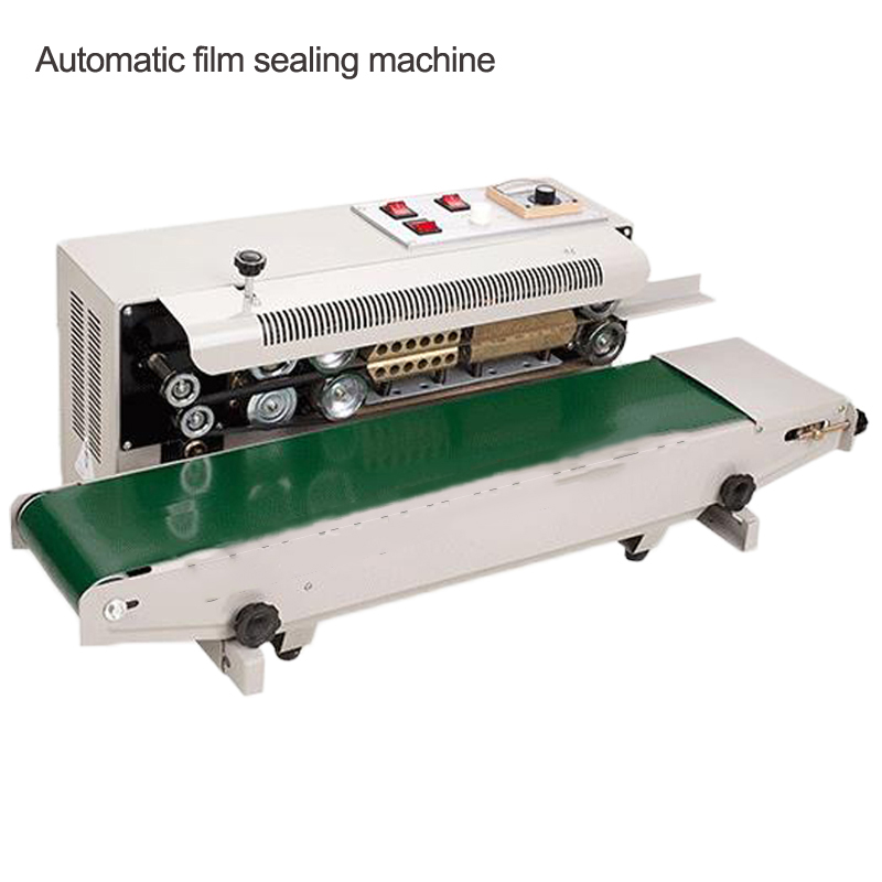 FR-900 Stainless Steel Automatic Film Sealing Machine Laminating Machine Aluminum Foil Packaging Bag Continuous Heat Sealing