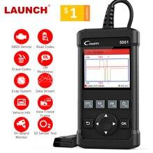 השקת X431 CR5001 OBD2 קוד קורא סורק ODB2 רכב כלי אבחון עדכון חינם רכב סורק OBDII לכבות מנוע אור