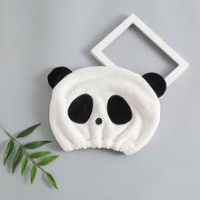 Полотенце для волос с рисунком панды быстросохнущее полотенце