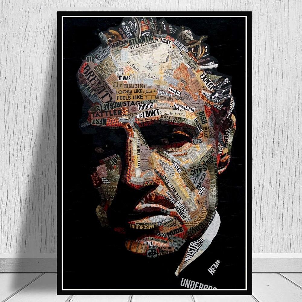 Pate Zeitung Collage Film Poster Malerei Kunst Auf Leinwand Drucke Und Poster Wand Bild Für Home Cuadros Zimmer Dekoration