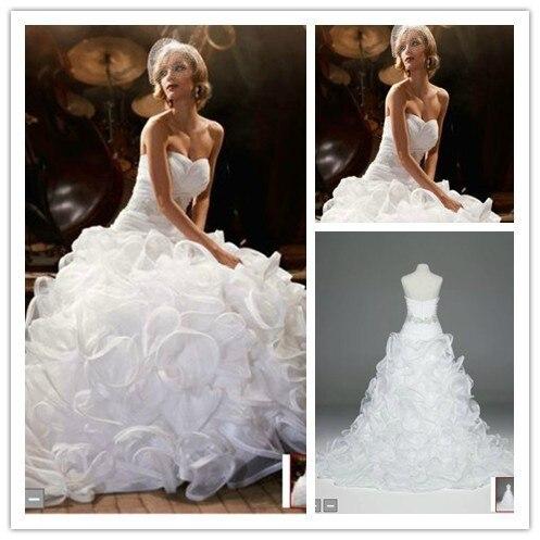 Wedding Dresses With Ruffles Ball Gowns Organza Vestido De Fiesta Formales De Gala Sweetheart Beaded Belts Off The Shoulder