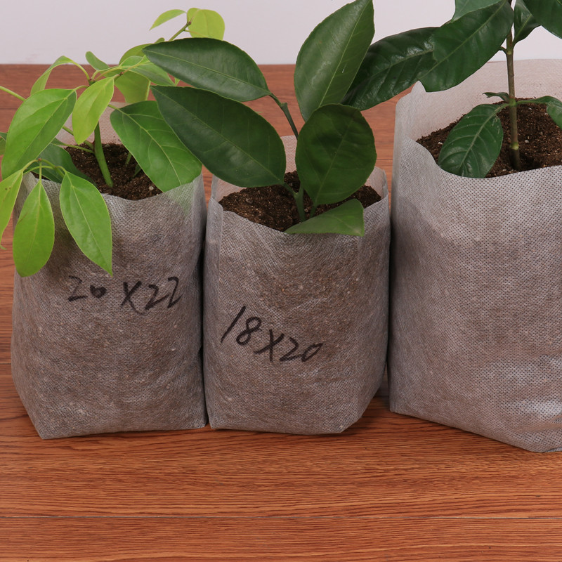 100/50PCS Seedling Plants Nursery Bags Organic Biodegradable Grow Bags Fabric Eco-friendly Ventilate Growing Planting Bags