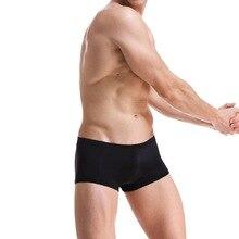 MONERFFI 2020 Mesh Transparent Sexy Men Panties Solid Color Men's Underwear Boxers