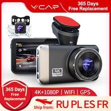 Vvcar d530 dvr carro câmera 4k + 1080p gravador de vídeo wifi velocidade n gps dashcam traço cam registrador carro spuer visão noturna