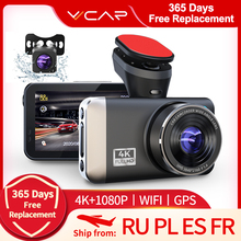 VVCAR D530 Car DVR Camera 4K 1080P videoregistratore WIFI Speed N GPS Dashcam Dash Cam Car registrar Spuer visione notturna