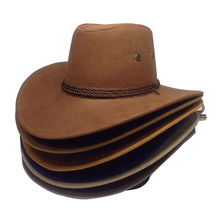 Klassische Große Krempe Cowboy Hüte Männer Vintage Outdoor Sonnenschutz Caps Unisex cheap ULGEN Faux-Leder CN (Herkunft) Erwachsene Cowboyhut Beiläufig Fest H19082002 Welcome