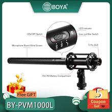 BOYA BY-PVM1000L Microphone PVM1000L Professional Condenser Mic Video Recording for Canon Nikon Sony DSLR Camera Camcorder boya by m1 m1dm by mm1 dual omni directional lavalier microphone short gun video mic for canon nikon iphone smartphones camera