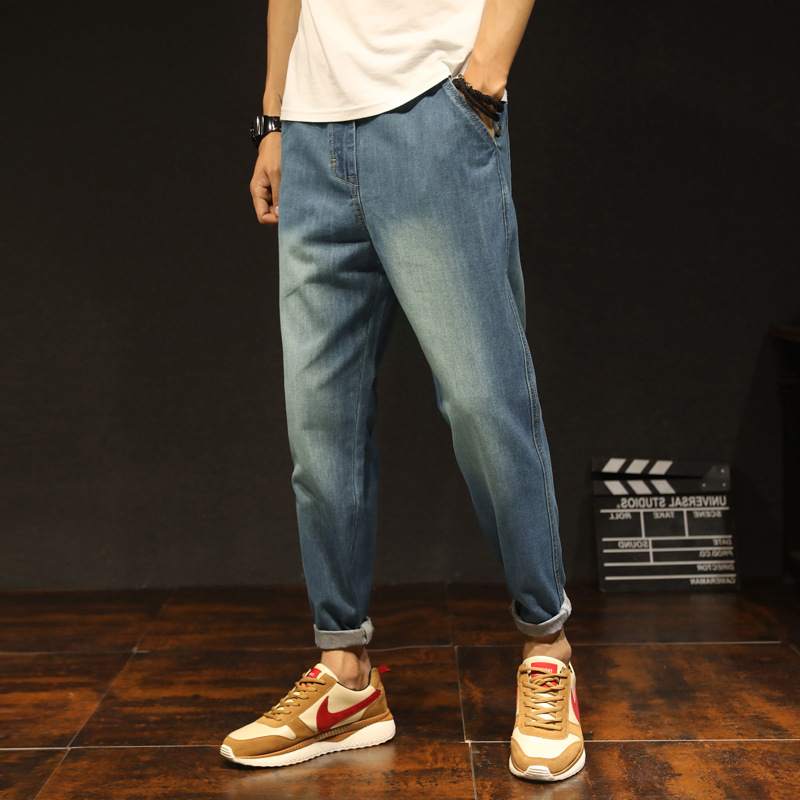Main Push Hot Selling Summer Thin Section Capri Jeans Men's Loose And Plus-sized Harem Pants Men's